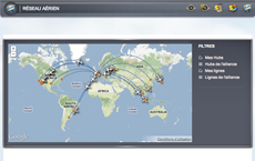 Management of the airline network on Airlines Manager